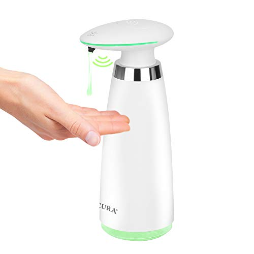 Secura Automatic Soap Dispenser 340ml / 11.5oz Premium Touchless Batter Operated Electric Dispensers w/Adjustable Soap Dispensing Volume Control  White