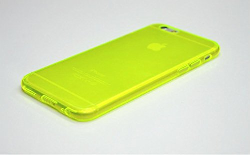NorthLogic iPhone 6 Plus 5.5 inch Case TPU Silicone Back Case Soft TPU Gel Cover for Apple iPhone 6 Plus - Transparent (NEON YELLOW)
