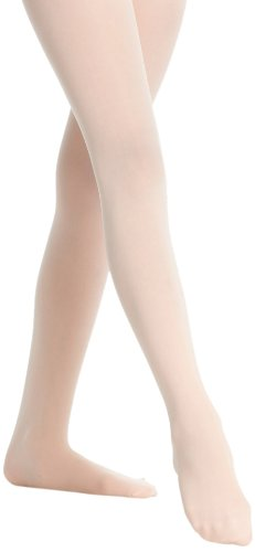 Danskin Little Girls Microfiber Footed Tight, Ballet Pink, S (4/6) 387-Ballet Pink-S (4/6)