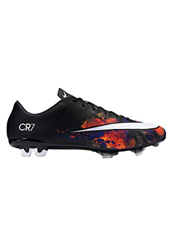 Nike Men's Mercurial Veloce II CR FG Soccer Cleat (6.5, Black/White-Total Crimson)
