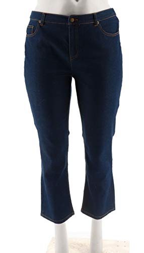 Liz Claiborne Ladies Jeans - Liz Claiborne NY Jackie Slim Leg Jeans A256501, Med Indigo, 16P
