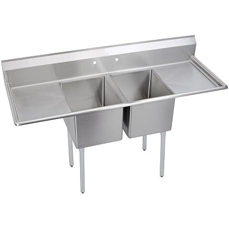 Standard 2 Compartment Sink 24 Left Drainboard