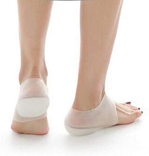 Ecosway Unsichtbare Höhe Lift Absatz Pad Socke Lidstift Steigerung Einlegesohle Schmerzen Linderung 3cm für Damen Herren