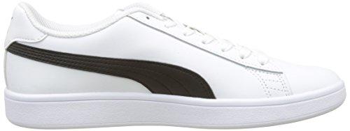 Bianco Adulto puma Scarpe Puma V2 White Unisex Ginnastica Basse L puma Da – Black Smash ZZSvw