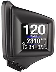 Geloo HUD OBD2 GPS inteligentny miernik samochodowy wyświetlacz z zagłówkiem podwójny system wielofunkcyjny wyświetlacz 1,54 cala wyświetlacz samochodowy wyświetlacz HUD wyświetlacz prędkościomierz RPM alarm km/h MPH