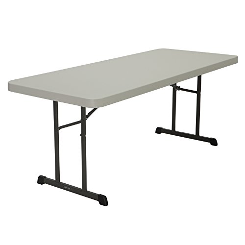Lifetime Products 80249 Professional Folding Table, 6', Almond by Lifetime