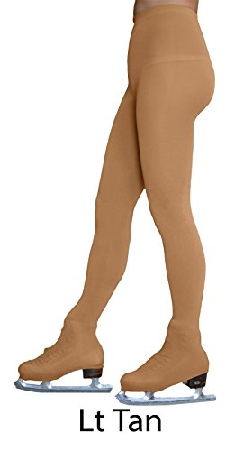 Chloe Noel Figure Skating Light Tan Over The Boot Tights TB8832 Light Tan Child Extra Large/Adult Extra Small (12-14)