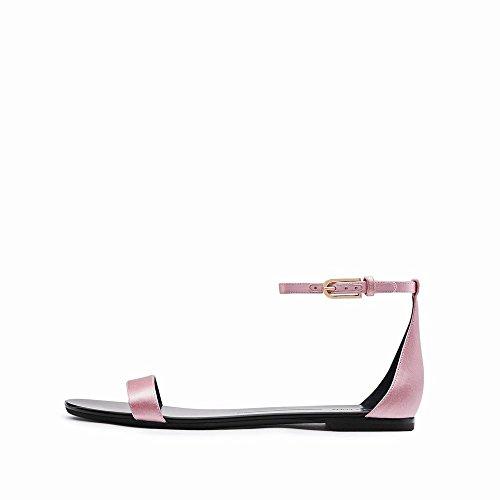 Mot D'Été Bouton Talon Rond Chaussures Simples UNE NSX Mot Plat Sandales Chaussures Zxnq50wT