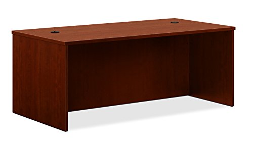 basyx by HON BL Laminate Series Office Desk Shell - Rectangular Desk Shell, 72w x 36d x 29h, Medium Cherry (HBL2101) Cherry Executive Office Desk
