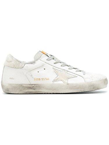 Women's Golden White G32WS590E67 Goose Leather Sneakers FxvTgwqz