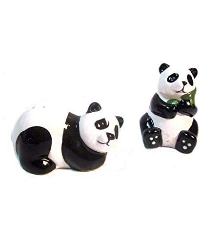 Navillus 3'' Hand Painted Panda Bears Salt and Pepper Shakers set collection, anniversary, mothers day, gift for any occasion!