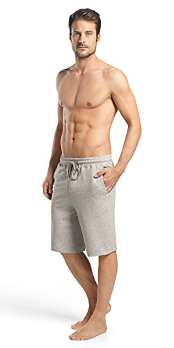Hanro Men's Raul Short Knit Pant, Light Grey Melange, Medium by HANRO