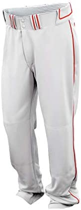Easton Walk-Off Slowpitch Softball Piped Pant, Adjustable Length Inseam, Relaxed Fit