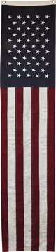 Long Slim American Flag Banner Embroidered Stars Country Primitive Patriotic Décor