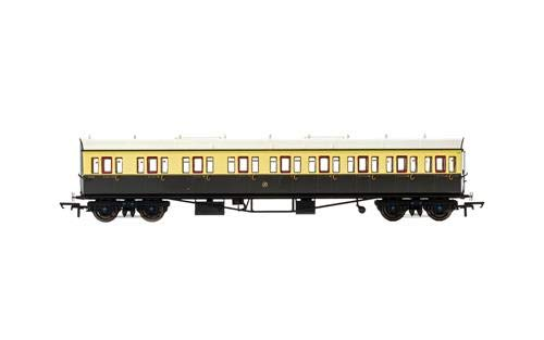 Composite Coach - Hornby R4874A GWR Collett 57' Bow Ended E131 Nine Compartment Composite (Left Hand) 6626-Era 3 Coach, Multi