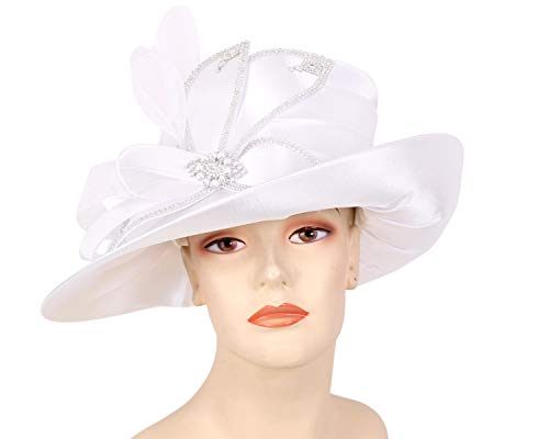 ca8ac28a93a Ms Divine Women s Satin Formal Church Derby Hats- HL86 for sale Delivered  anywhere in USA