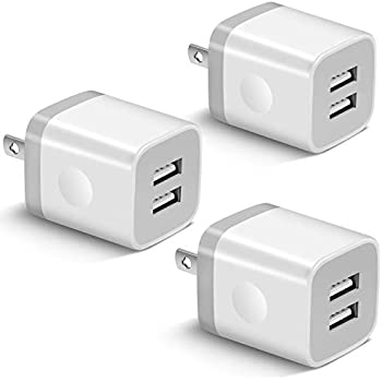 Amazon.com: USB Wall Charger, 3 Pack GiGreen Dual Port ...
