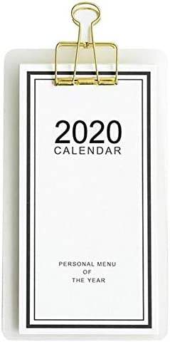 Tischkalender Kalendarien 2020 Menu-Stil Kalender Einfache Innovative Benutzerdefinierte DIY Tischkalender Small Wall Schedule Manager Planer Schule Büro-Briefpapier (Color : Coffee)