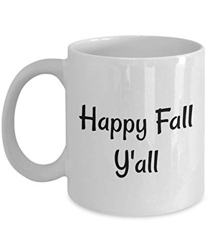 (Fall Coffee Mugs ~ Happy Fall Y'All ~ Celebrate autumn leaves, Halloween, pumpkin spice latte! Great gift idea for you or friend! 2 sizes (11)