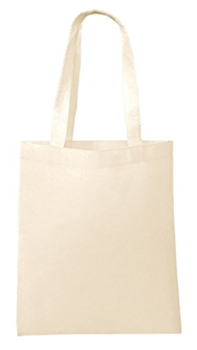 BagzDepot Non-Woven Promotional Budget Friendly Wholesale Tote Bags (50, Natural)