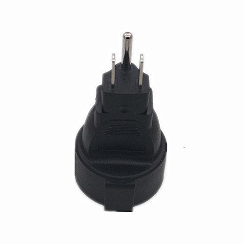 (2 Pack) Schuko Female to USA NEMA 5-15 Plug Adapter, Tekit EU Europe Schuko to US 3pin NEMA 5-15P Power plug Converter adaptor,USA NEMA 5-15P plug to Europe CEE7/7 Schuko receptacle plug adapter.