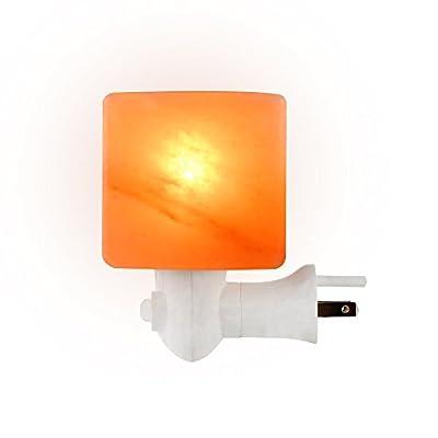 SALT GEMS Himalayan Salt Lamp Night Light, - Wall Light Hand Carved Crystal Salt Rock Wall Plug Bedroom Night Bulb, Rectangular Shape Nursery Wall Night Light