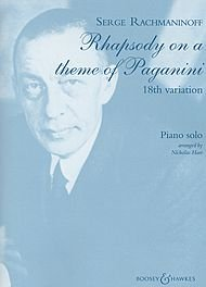 Boosey and Hawkes Rhapsody on a Theme of Paganini, Op. 43 (18th Variation) BH Piano Series Composed by Sergei Rachmaninoff (Variations On A Theme By Paganini Sheet Music)