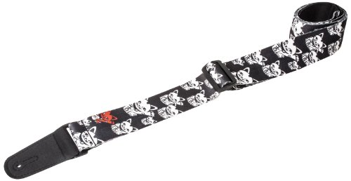 Henry Heller HSUB2-15 Guitar Strap, Good Luck Cats