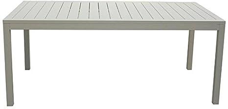 Tavoli Da Giardino In Alluminio.Amicasa Tavolo Da Giardino Alluminio Rettangolare 180x100 Cm Bianco