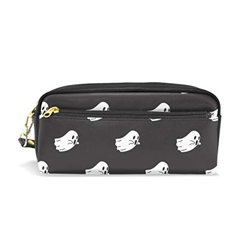 Top Carpenter Pencil Case Pouch Bag Ghost Halloween Wallpaper for Makeup Office Student 1.7x0.75x0.5in