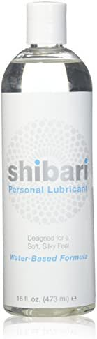 Shibari Intimate Lubricant, Water Based, for Women's Soft Skin, 16oz Bo