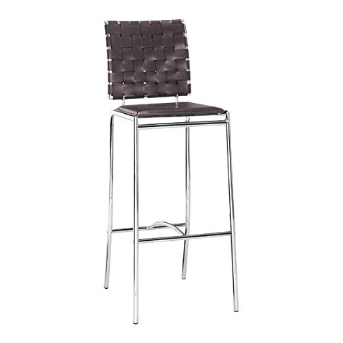 Zuo kitchen barstools, Espresso Criss Cross counter modern barstools chair, set of (Criss Cross Counter Chair)