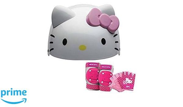 b339b100a Amazon.com : Hello Kitty Kids Skate/Bike Helmet Pads & Gloves - 7 Piece Set  : Sports & Outdoors