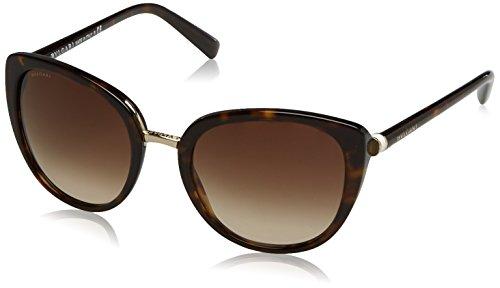 Bvlgari BV8177 504-13 Dark Havana BV8177 Cats Eyes Sunglasses Lens Category 3 - Sunglasses S Bvlgari