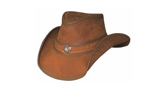 Bullhide Men's Copper Creek Leather Hat Honey X-Large