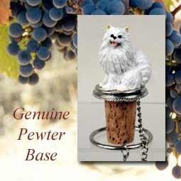 Miniature American Eskimo Dog Wine Bottle Stopper - DTB83
