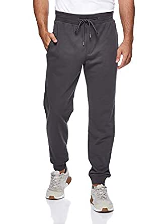 BodyTalk Men's Tight Fit Sweatpants, Grey (Dark Grey), X-Large