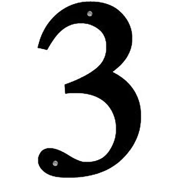 "Iron Address Number House Number 1 Medium 12"" - Heavy Duty"