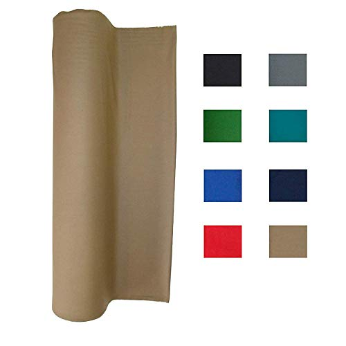 haxTON Pool Table Felt Performance Grade Billiard Cloth for 7, 8 or 9 Foot Table Choose from Light Gray,English Green, Black,Standard Green,Tan, Blue, Red or Navy Blue (tan, 8feet) ()