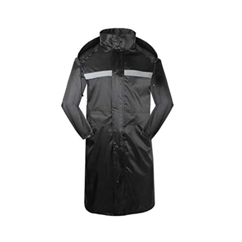 SPLY DTEM Outdoor Long Raincoat Adult One-Piece Poncho Waterproof Padded Single Waterproof Raincoat Men (Color : Black, Size : Height - Universal Single 169