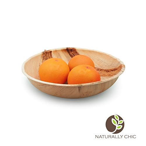 Naturally Chic Palm Leaf Compostable Bowls | 12