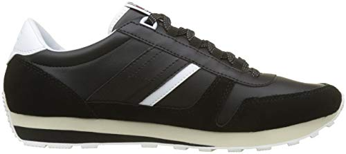 Runner Hilfiger Uomo Retro Sneaker da Basse Ginnastica Black Denim Nero Scarpe 990 aEEqwR7