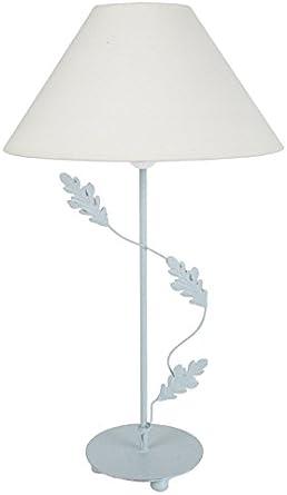 Tosel 63883 Puy lámpara de mesa chapa acero/pintura epoxi encalado ...