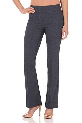 (Rekucci Women's Ease in to Comfort Boot Cut Pant (18,Indigo Tartan))