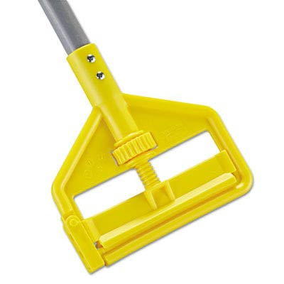 Rubbermaid Commercial RCP H146 Invader Fiberglass Side-Gate Wet-Mop Handle, 1'' Diameter x 60', Gray/Yellow by Rubbermaid Commercial Products