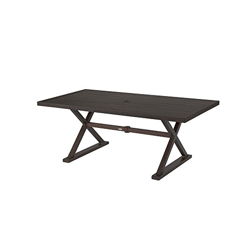 Hampton Bay Woodbury Metal Rectangular Outdoor Patio Dining