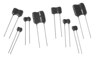 Silver Mica Capacitor, Standard Dipped, 100 pF, 1000 V, Â 5%, Type CDV19 Series, Radial Leaded