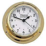 Weems & Plath Trident Quartz Brass Clock