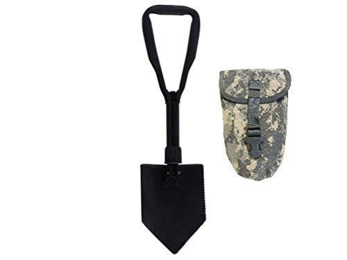 US Military Original Issue E Tool Entrenching Shovel with ACU OR MultiCam Carrying Case / Pouch