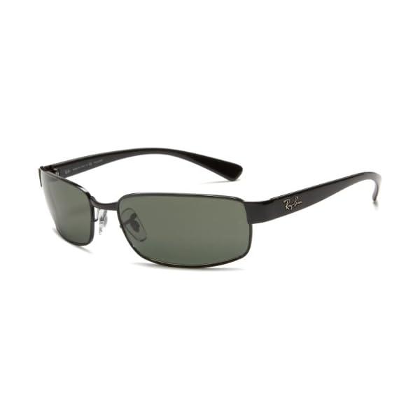 Ray-Ban RB3364 Rectangular Metal Sunglasses